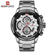 NAVIFORCE אופנה מזדמן גברים שעון למעלה יוקרה צבאי זכר שעון אנלוגי קוורץ שעון גברים הכרונוגרף שעון relogio masculino
