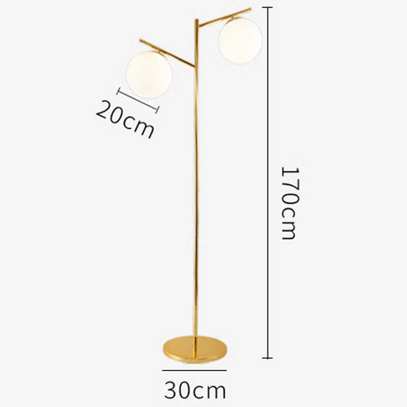 Gl Floor Lamp With E27 Bulb