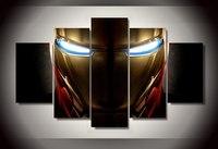 סיטונאי גדול 5 לוח HD ציור מודפס איש ברזל עיניים חדות הדפס בד אמנות בית תפאורה קיר תמונות לסלון F0284