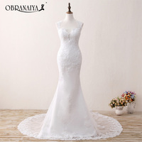 Real Photos Vestidos De Novia Ivory Lace Wedding Dresses Mermaid Vintage Bride Dress Robe De Mariage