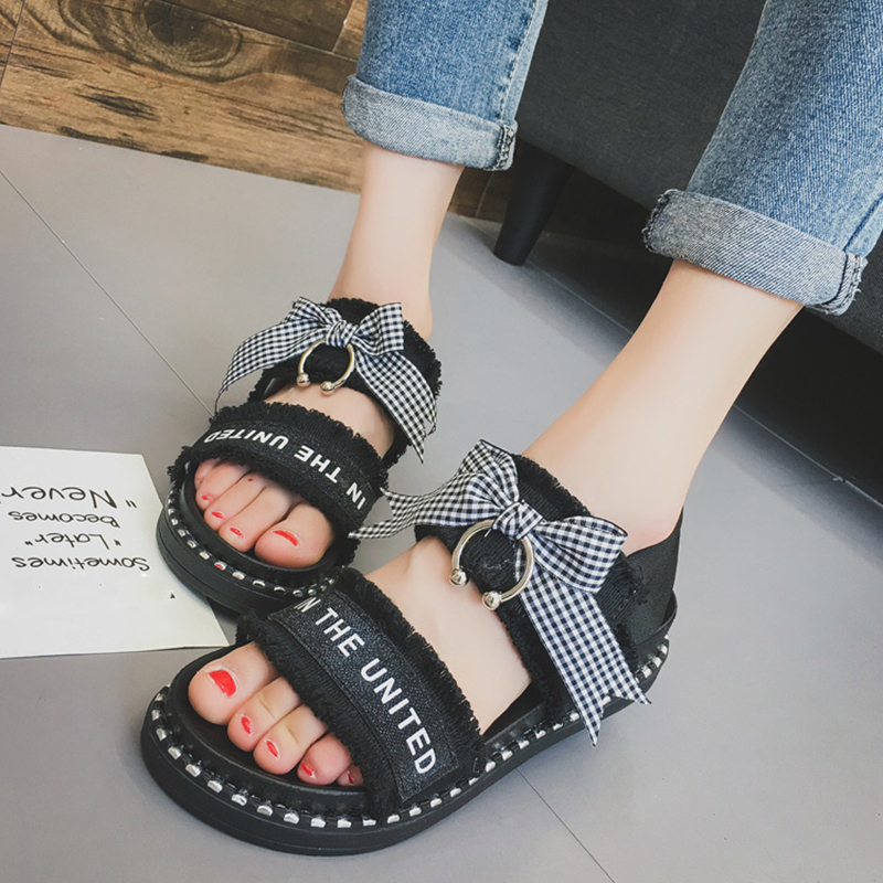 Women Summer Shoes Sandals 2017 Peep-toe Flat Sandals Low Wedges Shoes Women Platform Sandals Women Shoes Mujer sandalias women shoes summer women sandals 2017 peep toe gold silver roman sandals shoes platform brand creepers woman sandalias size 43