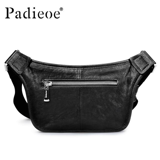 Padieoe Высокое качество Мужская поясная сумка из натуральной кожи поясная  сумка для денег мобильный телефон Мужская 1e29a5af65a