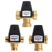 Новый 3 способ латунь DN20/DN25 мужской женский нитки воды термостатический смесительный клапан 3/4