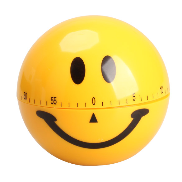 Mechanical Smiley Face Kitchen Cooking Timer Alarm 60 Minutes Yellow Sale LXY9