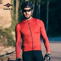 Santic Radfahren Jersey Männer Langarm Maillot Ropa Ciclismo Fahrrad Trikots Pro Team Bike Jersey Tops Hemd Radfahren Kleidung-in Rad-Trikots aus Sport und Unterhaltung bei