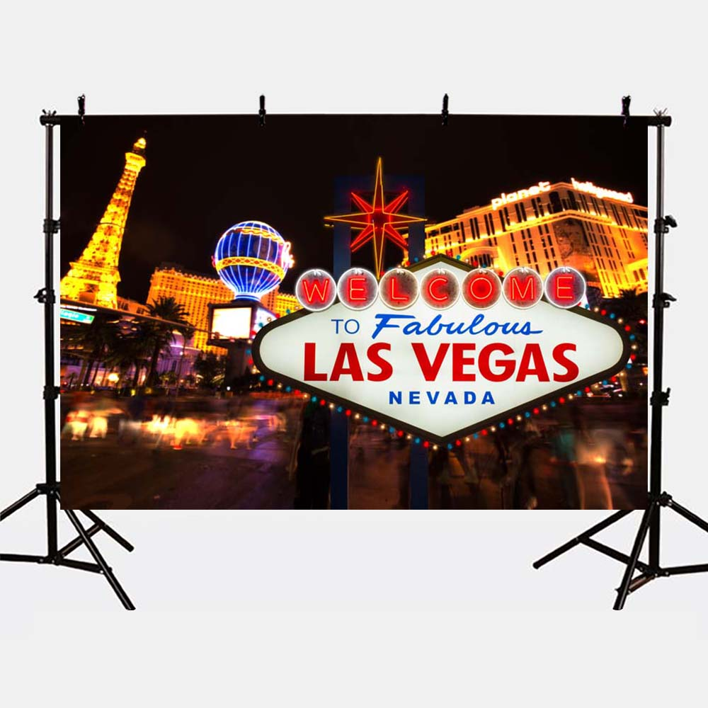 Mehofoto Las Vegas Gold Lighting Tower Photo Background Bokeh Backdrop for Photography Studio Modern G-175