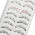 Natural Short Strip Thick Cross False Eyelashes Individual Soft Lashes Mink Wimpers Extension Faux Cils Beauty Makeup Kit  216#
