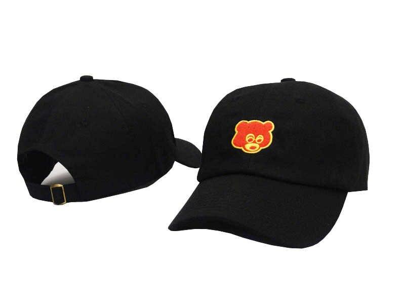 1f1f69aa ... Black Pink Tan Kanye West Graduation College Dropout Bear Dad Hat Cap  real friends Baseball Cap ...