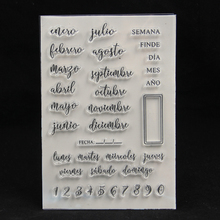 Spanish Months Transparent Clear Silicone Stamps