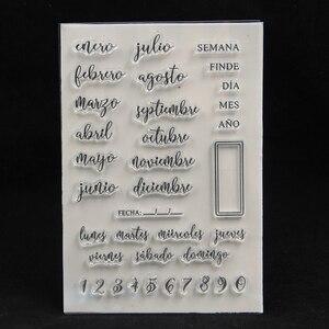 Image 1 - Прозрачный силиконовый штамп ZFPARTY для скрапбукинга/фото, декоративная открытка для альбома