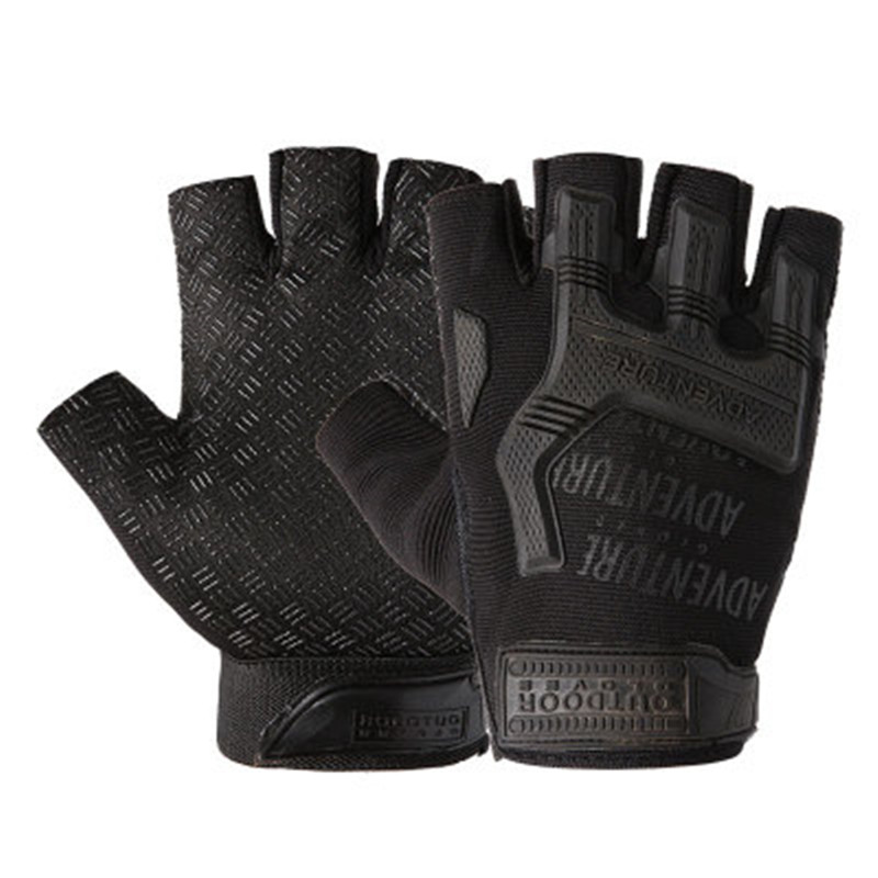 1Pair Gear Military Fingerless Hard Knuckle Tactical Gloves Men Half Finger for Army Sport Driving Shooting Riding Motorcycle 1