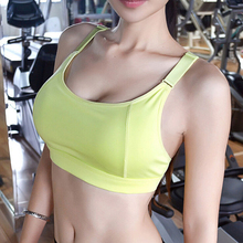 Women Sports Bra Professional for Fitness Shockproof Bra Push Up Seamless Tops Adjustable Straps