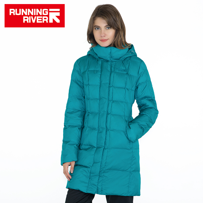 RUNNING RIVER Brand Women Winter Hiking Camping Down High Quality Warm Jackets For Woman Winter Outdoor