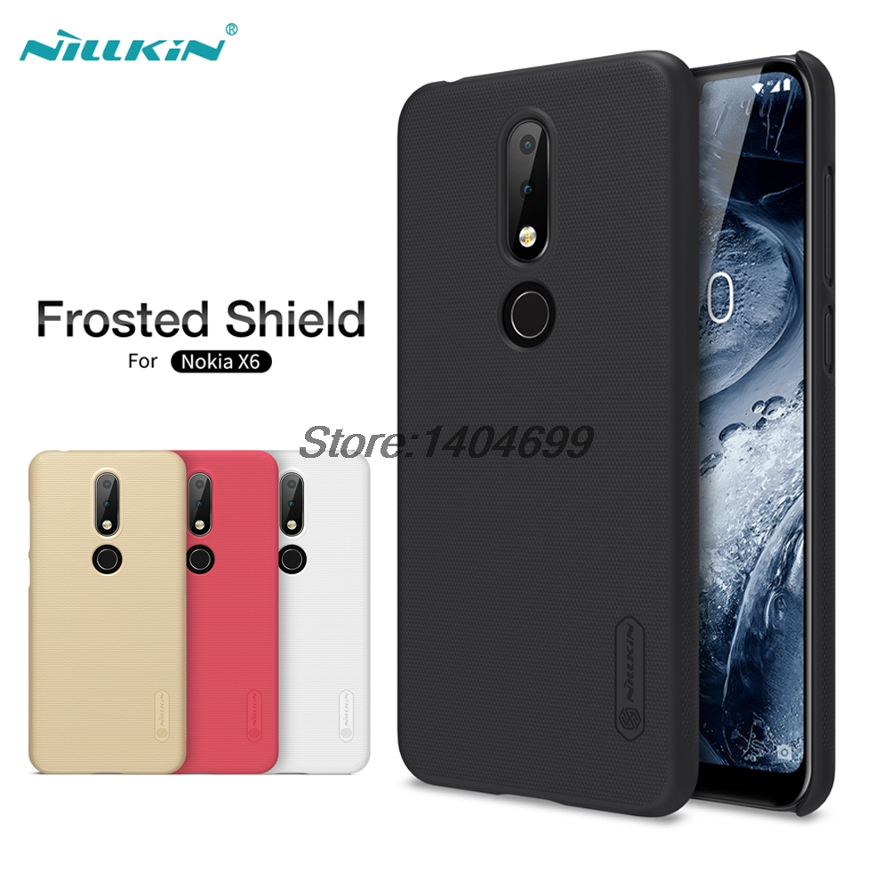 sFor Nokia X6 Case Nokia X6 Matte Cover Nillkin Frosted Shield Hard Armor PC Back Case For Nokia X6