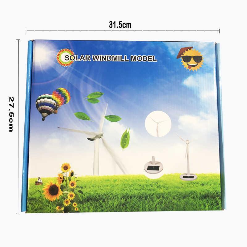 New arrive DIY Solar windmill model toys Plastic Assembled Model 3D Puzzle  Assembling Solar Powered Windmill Best Gift For Kids