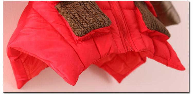 2018 niños niñas chaqueta de invierno Parkas de algodón cálido niños niñas abrigo de invierno con capucha niñas adolescentes abrigo largo 2 T 6 T 8 T 10 T 12 T 15Y