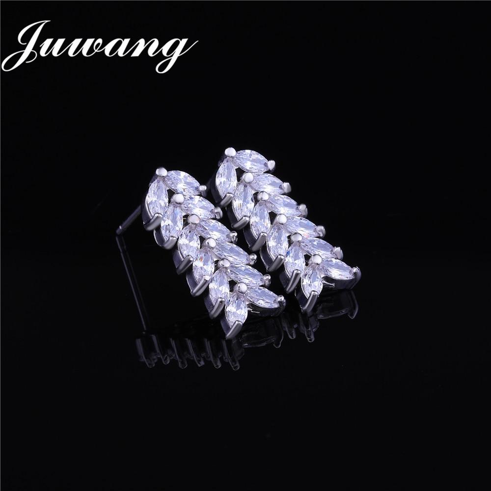 JUWANG brillant ensembles de bijoux cubique Zircon collier boucles d'oreilles pour femme mariage bijoux de mariée ensembles accessoires de robe de soirée 3