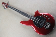Factory Custom High Quality Active Pickup Musicman Bongo Candy red 4 String font b Music b