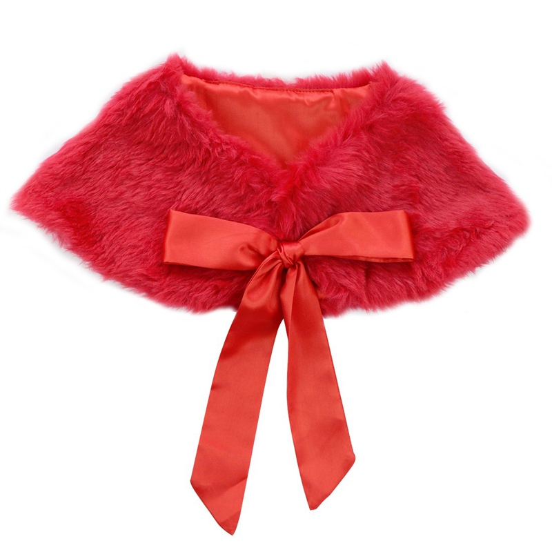 92fd7d23cd 3-6Years Pink Weeding Girls Kids Faux Fur Bolero Shrug Warm Jacket Cloak  Princess Cape