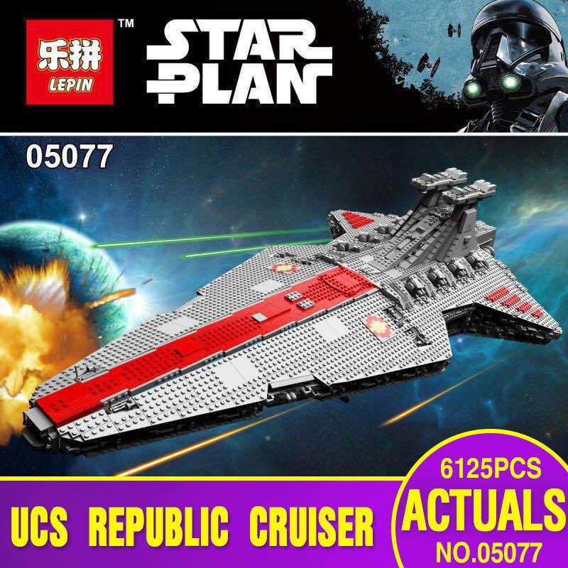 Rupblic Lepin 05077 Nueva Serie Star La UCS Estrella Crucero destructor ST04 Con