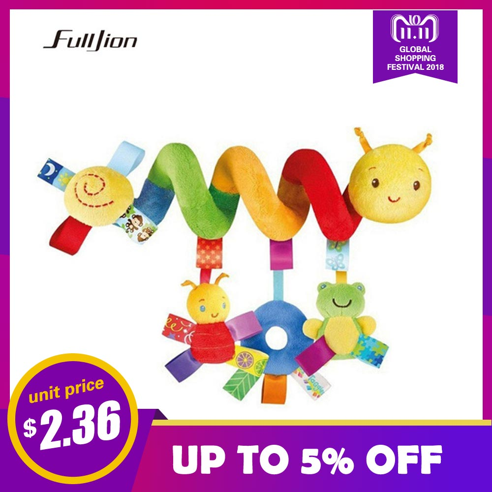 Fulljion Baby Rattles Mobiles Educational Toys For Children Teether Toddlers Bed Bell Baby Playing Kids Stroller Hanging Dolls струбцина stayer f образная 50х250мм 3210 050 250