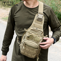 Military Army Tactical Backpack Single Shoulder MOLLE Chest Hamburger Messenger Bag 1000D Nylon UXT Buckle Free