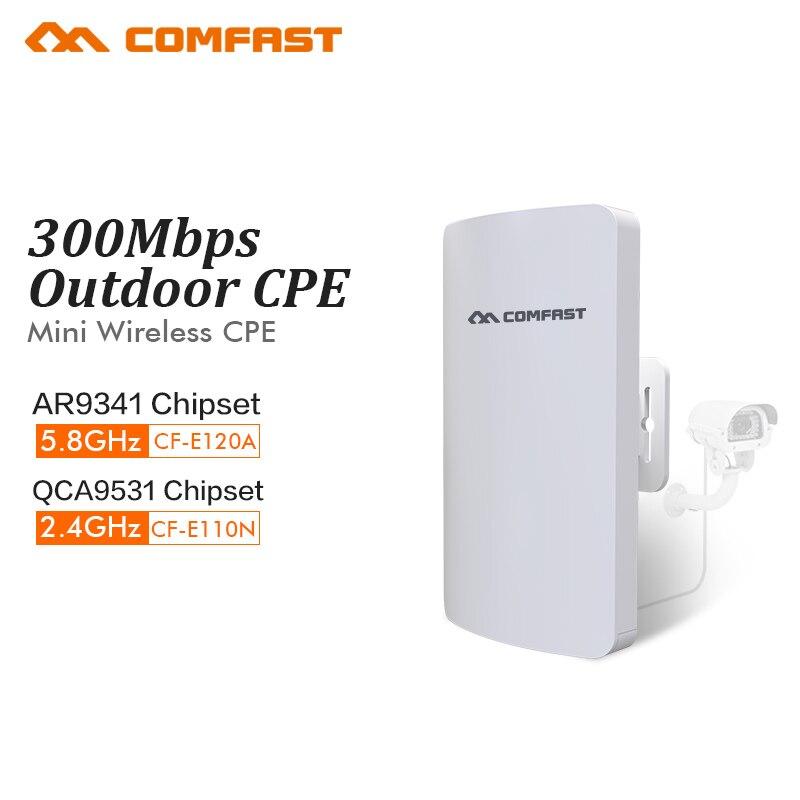 COMFAST 300mbs mini relais sans fil extérieur CPE wifi routeur répéteur pour ip caméra projet 1-2km gamme amplificateur CF-E120A E110N