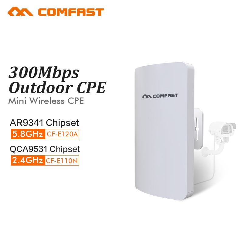 COMFAST 300mbs mini wireless bridge outdoor CPE wifi router repeater for ip camera project 1-2km range amplifier CF-E120A E110N comfast wireless bridge 5 8ghz 300mbps mini outdoor cpe wifi router for ip camera project 1 2km long range amplifier cf e120a