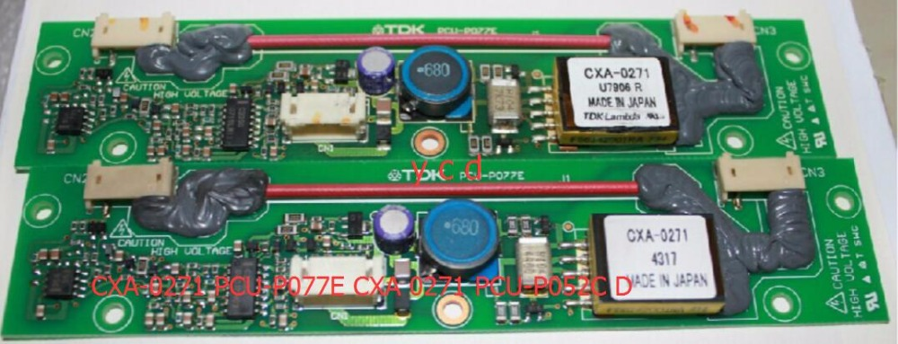 The original CXA-0271 PCU-P077E CXA-0247 PCU-P052C PCU-P052D Inverter high pressure plate cxa 0247 pcu p052d tdk lcd inverter high voltage switchboard