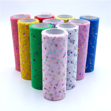 15cm 10 Yards Colorful Love Glitter Sequin Tulle Roll Organza Spool Tutu Fabric Wedding Decoration DIY Skirt Accessories