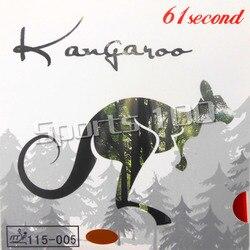 61 zweite känguru Pips-im Tischtennis Gummi mit weiß Schwamm