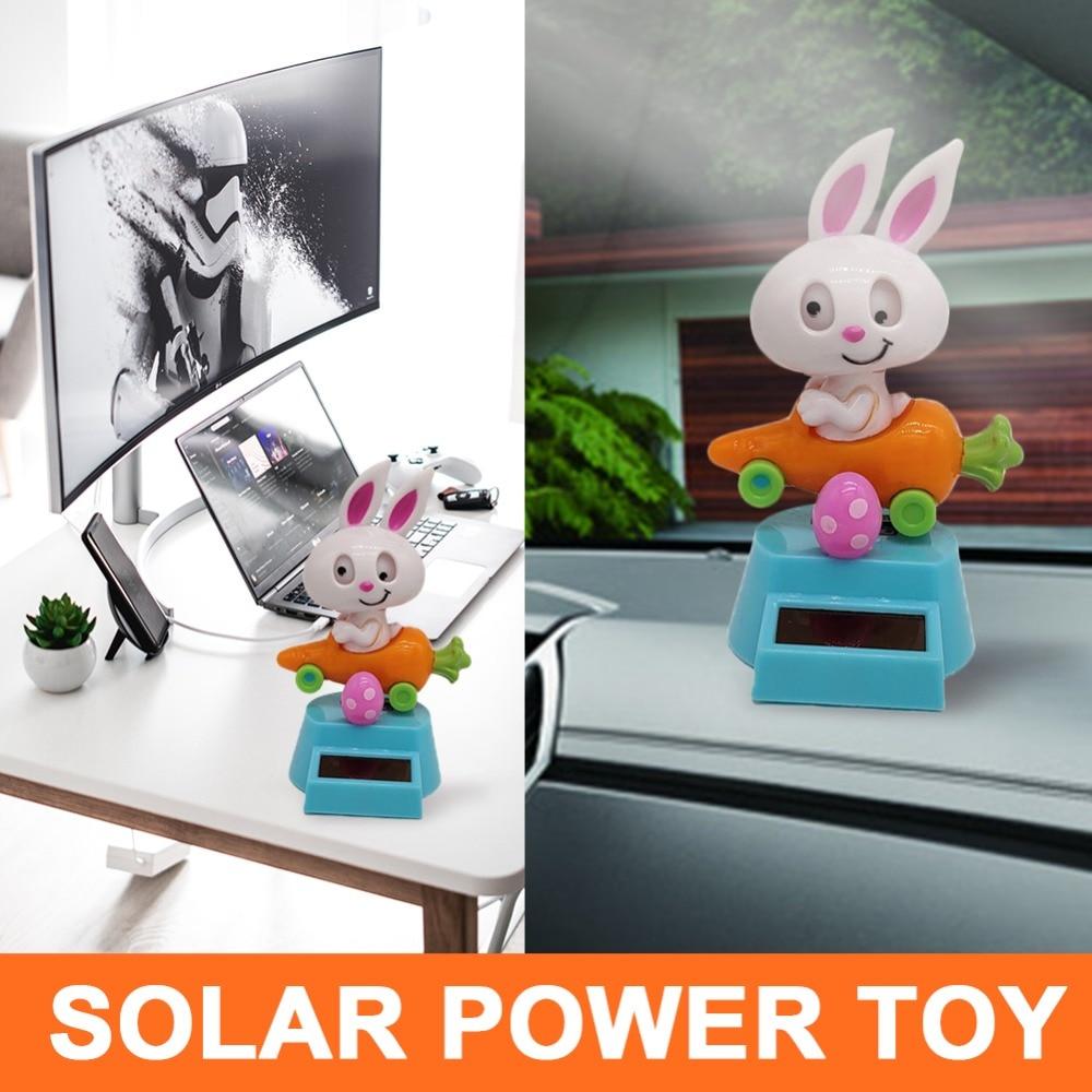Solar Power Flip Flap Swing Toy Cartoon Monk Figurine Car Ornament Dec JP/_ DI