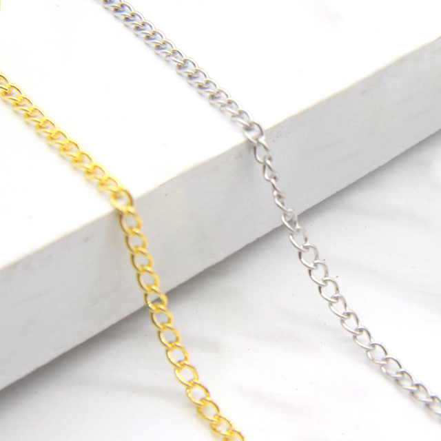 Matching Findings Connector Necklace Chain Accessories For Jewelry Making Thin Extender Flat Bracelet Cross Tails Metal DIY