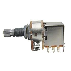 NEUE 4 stücke Push-Pull-Gitarre Töpfe Potentiometer 250K oder 500K Lange Welle Potentiometer 18mm für Elektrische gitarre Teile