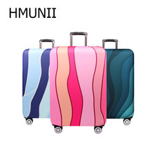 HMUNII Stripe Travel Accessories Travel Luggage Cover For 18-32 Inch Suitcase Travel Bag Protection Case Luggage Bag Dust Cover(China)