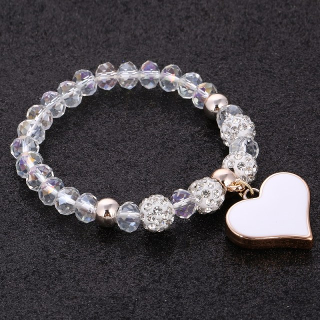 Romantic Vintage Bracelet with Heart Pendant