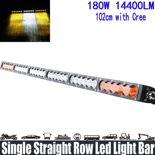 180w 38 white amber yellow single row led light bar spotflood 180w 38 white amber yellow single row led light bar spotfloodcombo aloadofball Image collections