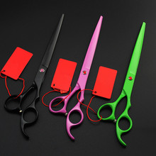 Top grade Japan 440c 8 inch dog grooming hair scissors cat pet shears cutting barber cats thinning clipper hairdressing scissors