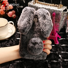 Phone Cover Case For Asus Zenfone 3 Max ZC553KL Zenfone3 Max 5.5 inch Cases Silicone Soft Rabbit Fluff Back Covers Shell Housing защитное стекло partner для asus zenfone3 max 5 5 zc553kl 9h