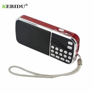 Image 3 - Kebidu החדש L 088 נייד HIFI מיני רמקול MP3 אודיו מוסיקה נגן פנס מגבר מיקרו SD TF FM פנס רדיו