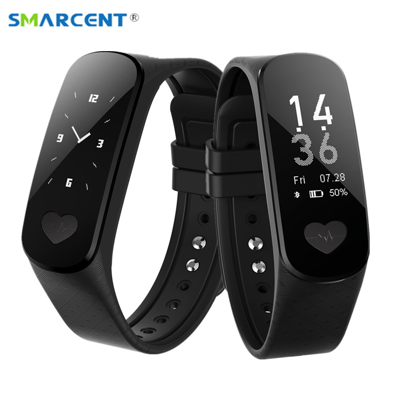 SMARCENT B9 ECG + PPG Health Smartband Heart Rate Blood Pressure Monitor Smart Band Fitness Activity Tracker Wristband Bracelet