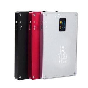 Image 2 - Ultra Dünne Aluminium Dimmbare OLED Display 96 Pcs LED Video Licht mit Batterie CRI96 + Bi Farbe für DSLRs als Aputure AL MX Iwata