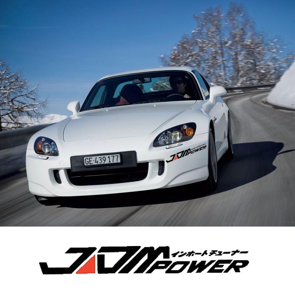 Car-Styling JDM Power Glue Sticker For Toyota corolla For Subaru brz For Honda jazz