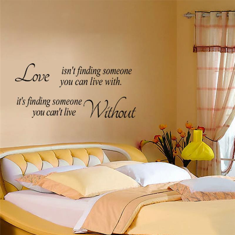 live life with love quotes wall sticker for bedroom living room