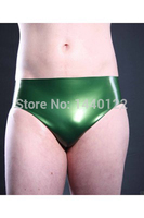 Men Adult Rubber Briefs Green Latex Shorts Sportwear Tight Panties For Men Plus Size Hot Sale Customize service