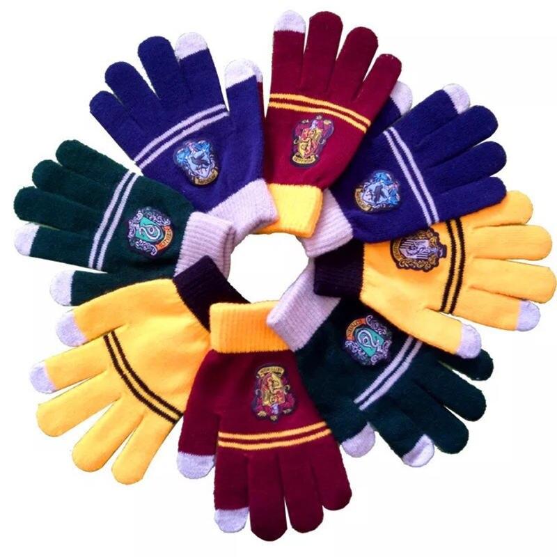 1SET Harri Cosplay College Gloves Gryffindor Glove Winter Warm Gloves Cartoon Halloween Gift Touch Screen Magic Toys
