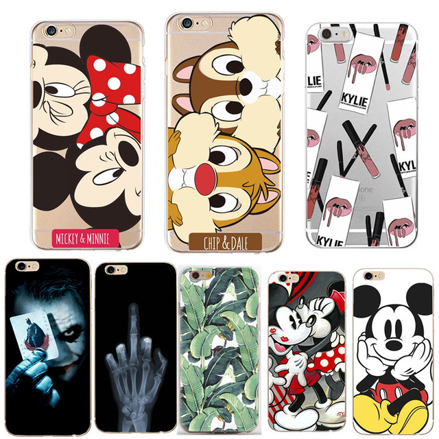 Cute Cartoon Patterned Phone Case For iphone X XS 8 7 Plus 6 6S Cases Soft Silicone Cover For Capinha iphone 5 5s SE Coque