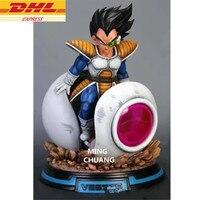 13.38Statue Dragon Ball Bust Saiyan Vegeta NO.1 Full Length Portrait GK Action Figure Collectible Model Toy 34CM BOX D934