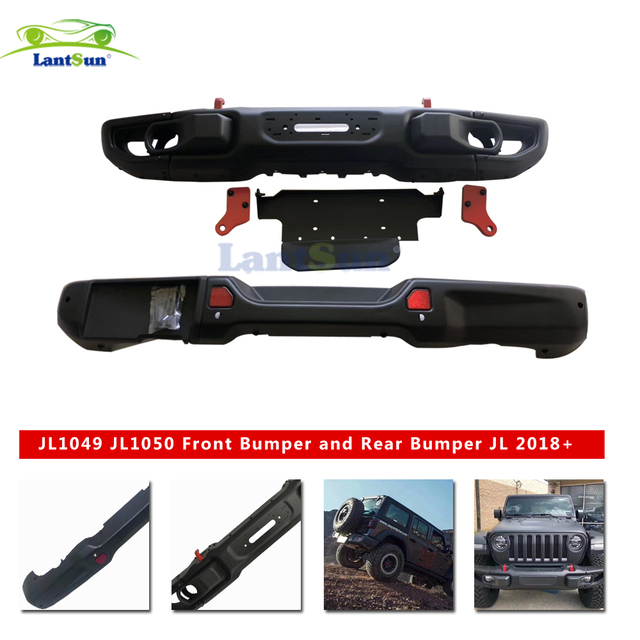 latest front and rear bar for Wrangler JL the original style rear bumper with camera hole 2018+ for auto product accessories