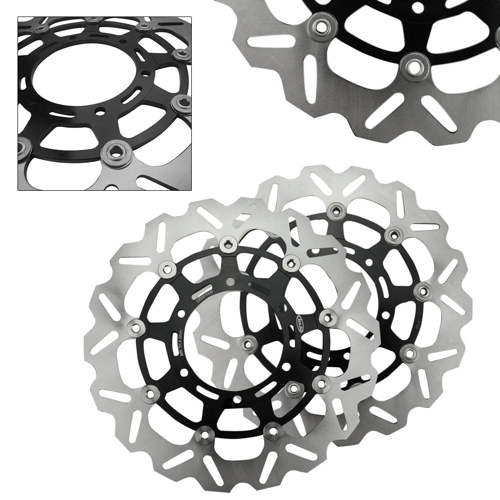 Front Brake Disc Disk Rotors <font><b>Kit</b></font> For <font><b>Suzuki</b></font> GSXR GSX-R600/750 2008-2012 & <font><b>GSXR1000</b></font> 2009-2011 Pair Motorcycle Spare Parts image